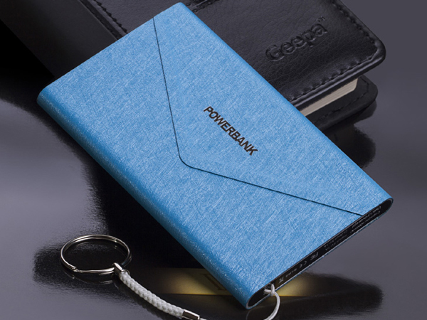 best quality leather power bank 4000mah