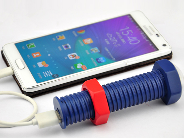 New Arrival screw portable power bank 2600mah