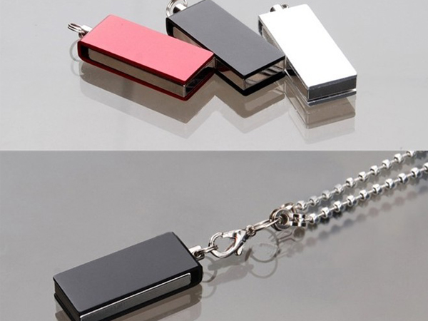custom cheap metal swivel mini usb flash drive