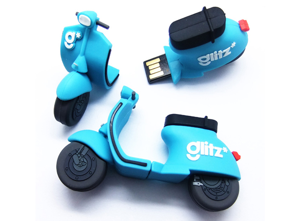 custom soft pvc motorcycle  shaped usb flash drive