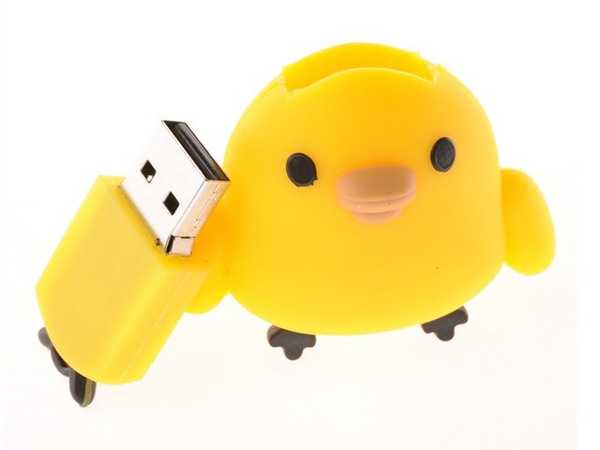 factory custom chick shaped cartoon usb flash disk