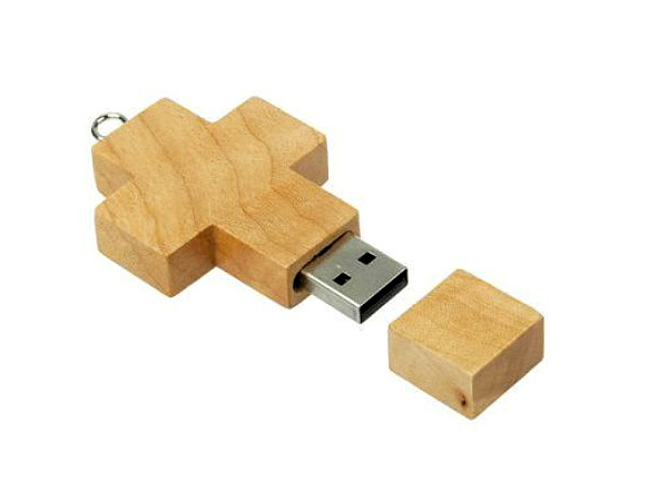 custom 1-64GB wooden cross usb flash drive
