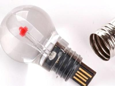 custom plastic bulb shaped usb flash disk