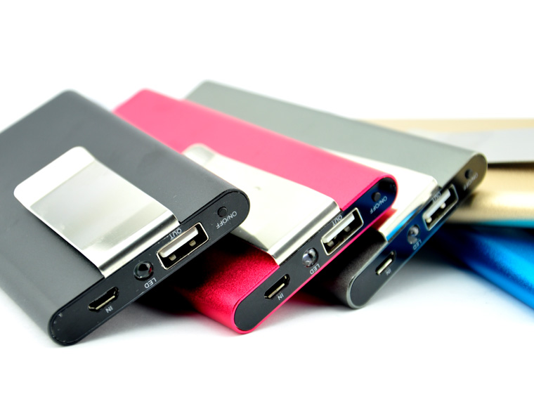 New Arrival 5000mah money clip portable power bank