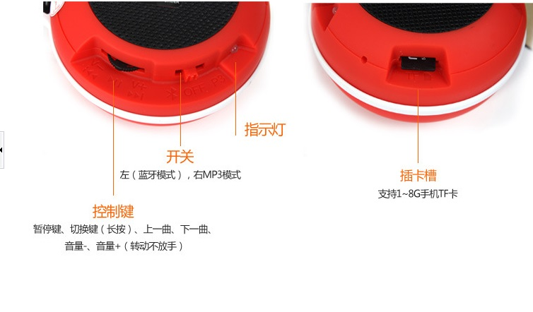 Portable mini bluetooth speaker/mini bluetooth speaker