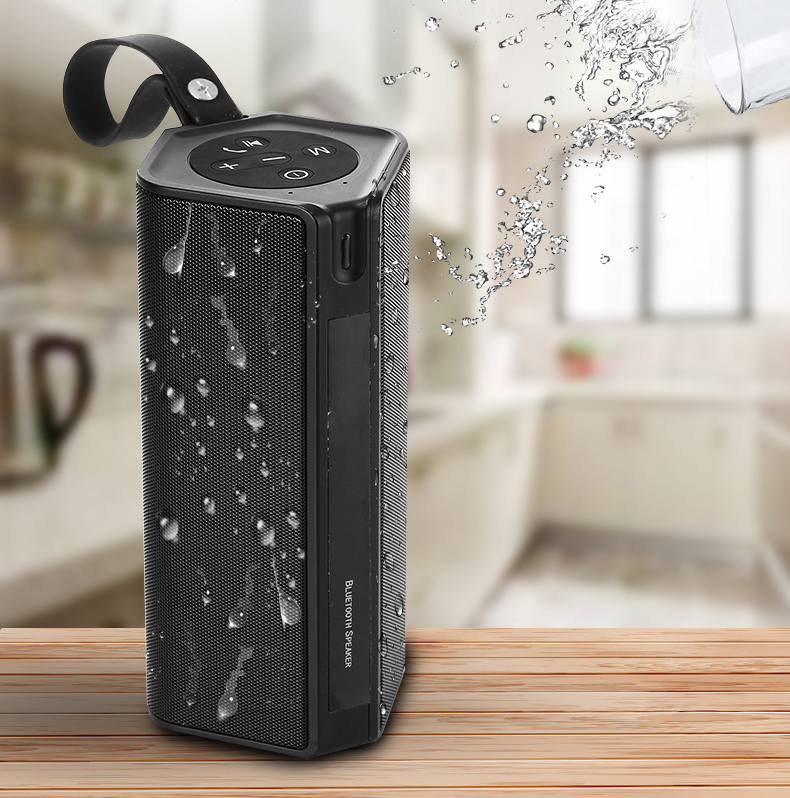 Caferria Outdoor Portable Wireless Bluetooth Speaker, IPX4 Waterproof Stereo Speakers with Double 5W Bass Sound and FM Radio, Built in 3000mah Power Bank