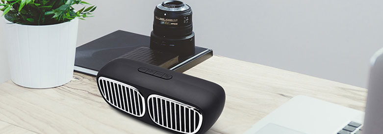 CAFERRIA portable rechargeable dual parlantes bluetooth wireless speaker