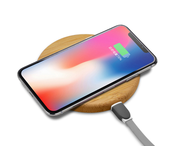 Universal phone charging round 5w 10w wooden bamboo wireless charger